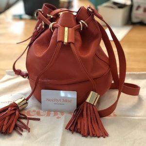 SeeByChloé Vicki bucket bag, Orange Paradise